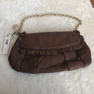 NWT Laundry Shelli Segal purse leather chain strap